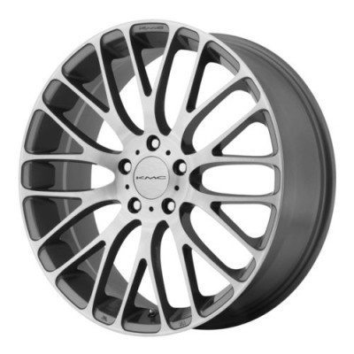 roue KMC Wheels KM693 MAZE, gris machine (20X8.5, 5x108, 72.6, déport 40)