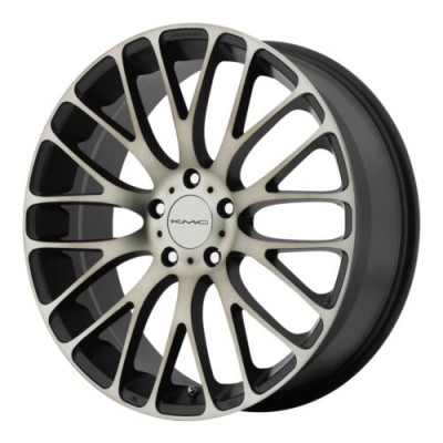 roue KMC Wheels KM693 MAZE, noir machine (18X8, 5x112, 72.6, déport 40)