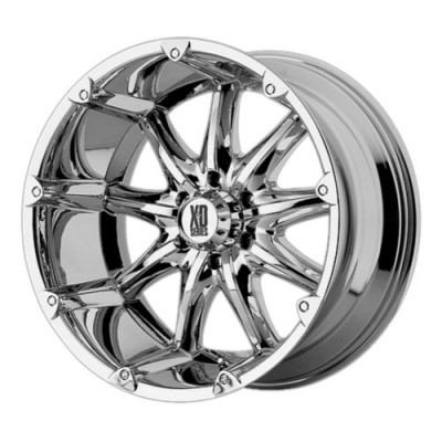 Roue KMC Wheels XD779 BADLANDS, chrome (18X9, 5x139.7, 108, déport 18)