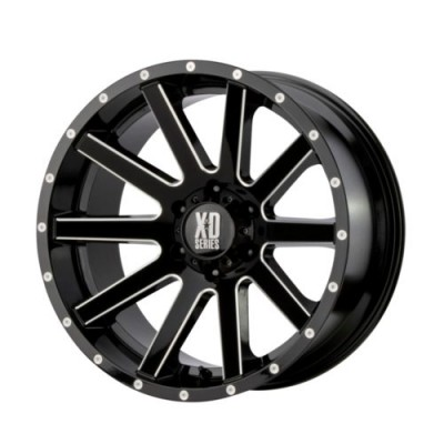 Roue KMC Wheels XD818 HEIST, noir lustre machine (20X10, 5x139.7, 78, déport -24)