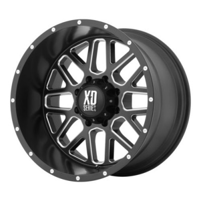 Roue KMC Wheels XD820 GRENADE, noir machine (20X9, 5x127, 78.3, déport 18)