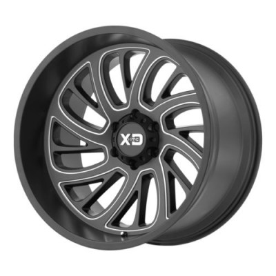 Roue KMC Wheels XD826 SURGE, noir machine (20X10, 8x180, 124.2, déport -24)