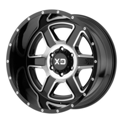 Roue KMC Wheels XD832 FUSION, noir lustre machine (20X9, 8x170, 125.5, déport 18)