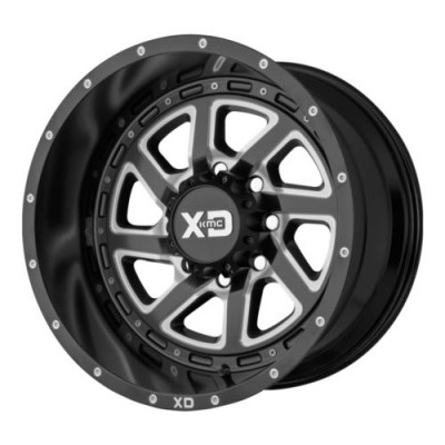 Roue KMC Wheels XD833 RECOIL, noir machine (20X12, 8x165.1, 125.5, déport -44)