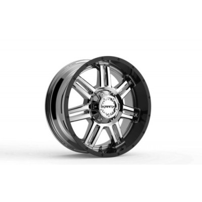 Roue KranK Off-road Force, chrome noir (20X10.0, 8x180, 124.4, déport -12)
