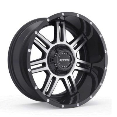 Roue KranK Off-road Force, noir lustre machine (17X9.0, 5x114.3, 78.1, déport 0)