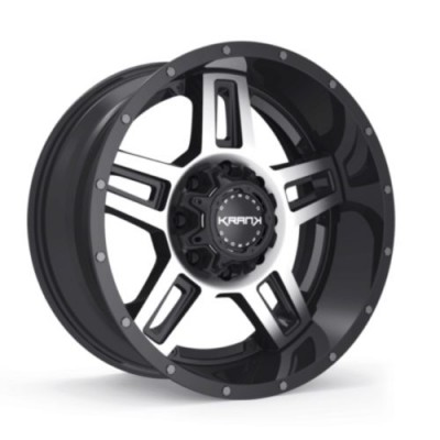 Roue KranK Off-road Hammer, noir lustre machine (18X9.0, 6x135/139.7, 108, déport 18)