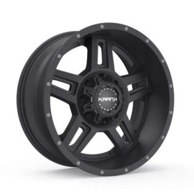 Roue KranK Off-road Hammer, noir satine (18X9.0, 6x135/139.7, 108, déport 18)