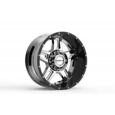 Roue KranK Off-road Shaft, chrome noir (18X9.0, 5x127/139.7, 77.8, déport -12)