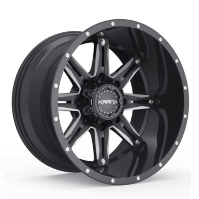 Roue KranK Off-road Shaft, noir lustre (18X9.0, 6x135/139.7, 108, déport 18)