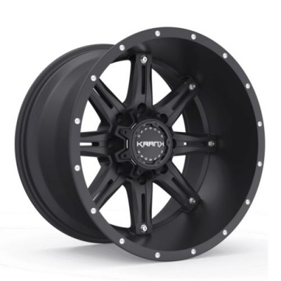 Roue KranK Off-road Shaft, noir satine (18X9.0, 8x180, 130.1, déport 18)