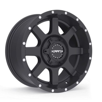 Roue KranK Off-road Slick, noir satine (17X9.0, 5x127/139.7, 77.8, déport 18)