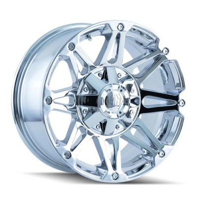Roue Mayhem RIOT, chrome (17X8, 6x114.3/127, 78.3, déport 10)