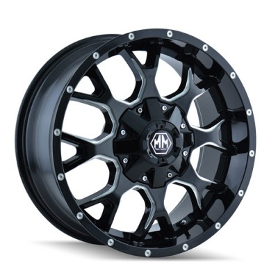 Roue Mayhem WARRIOR, noir rebord machine (17X9, 6x114.3/139.7, 78.3, déport 18)