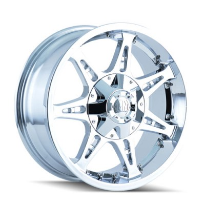 Roue Mayhem MISSILE, chrome (20X9, 6x114.3/139.7, 78.3, déport 18)