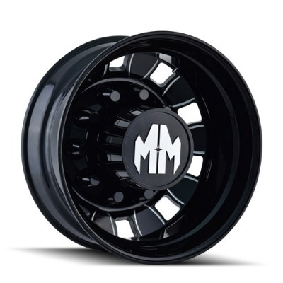 Roue Mayhem BIGRIG, noir machine (22.5X8.25, 10x285.75, 220.1, déport 169)