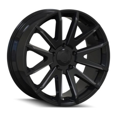 roue Mayhem CROSSFIRE, noir lustre machine (20X9.5, 5x139.7, 108, déport 25)