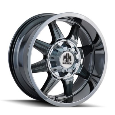 roue Mayhem MONSTIR, chrome (17X6.5, 8x165.1, 130.18, déport -140)