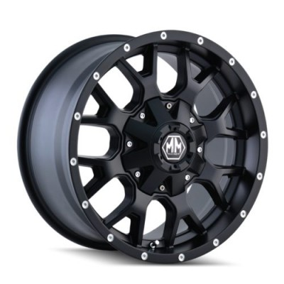 Roue Mayhem WARRIOR, noir mat (17X9, 6x135/139.7, 106, déport -12)