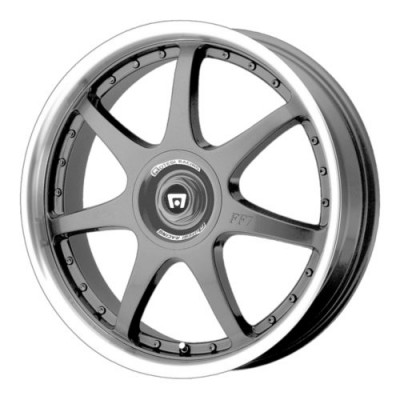 roue Motegi FF7, gris gunmetal machine (16X7, 5x100/114.3, 72.6, déport 42)
