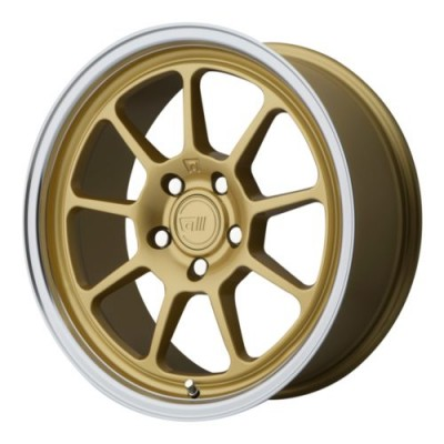 Roue Motegi MR135, or (17X8.5, 5x112, 72.60, déport 35)