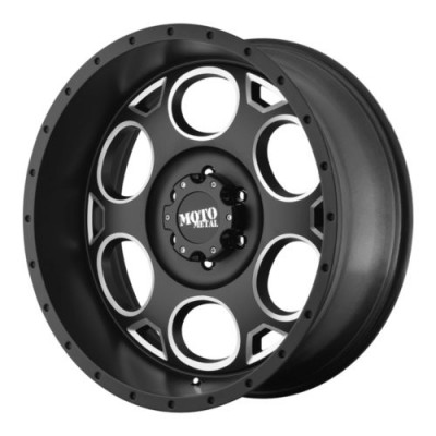 Roue Moto Metal MO964, noir machine (20X9, 6x139.7, 106.25, déport -12)
