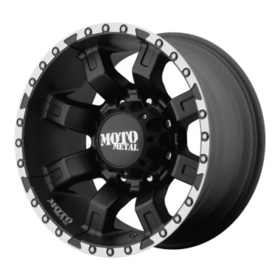 roue Moto Metal MO968, noir machine (20X12, 8x180, 124.2, déport -44)