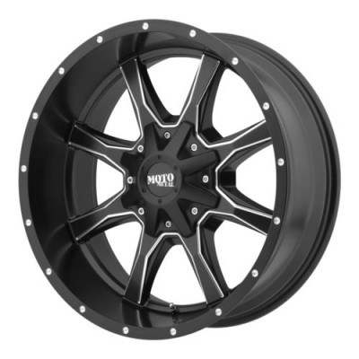 Roue Moto Metal MO970, noir machine (24X14, 6x135/139.7, 106.25, déport -76)
