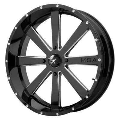 Roue MSA Offroad Wheels M34 FLASH, noir lustre machine (24X7, 4x137, 112.00, déport 0)