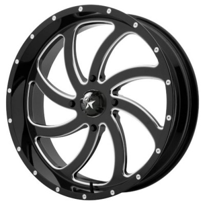 Roue MSA Offroad Wheels M36 SWITCH, noir lustre machine (24X7, 4x137, 112.00, déport 0)