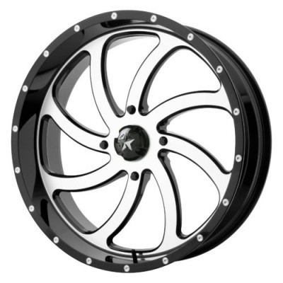Roue MSA Offroad Wheels M36 SWITCH, noir machine (24X7, 4x137, 112.00, déport 0)