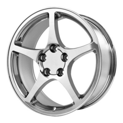 Roue OE Creations PR104, chrome (18X9.5, 5x120.65, 70.70, déport 54)