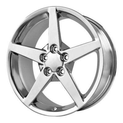 Roue OE Creations PR114, chrome (18X8.5, 5x120.65, 70.70, déport 56)