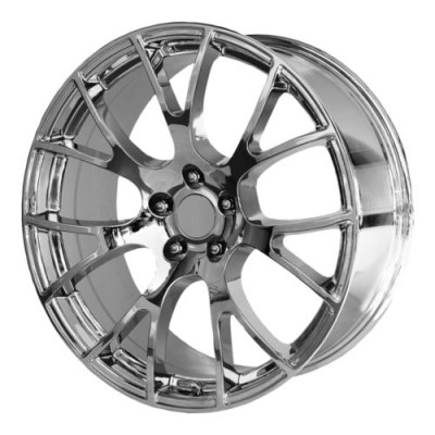 Roue OE Creations PR161, chrome (22X11, 5x115, 71.5, déport 18)