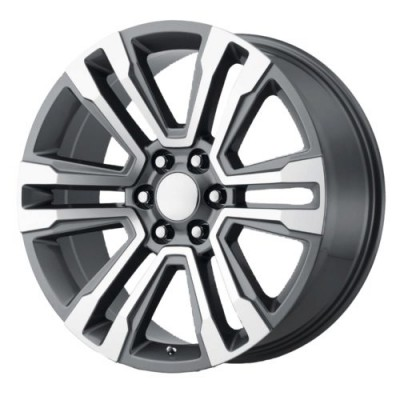 Roue OE Creations PR182, gris gunmetal machine (20X10, 6x139.7, 78.1, déport 24)