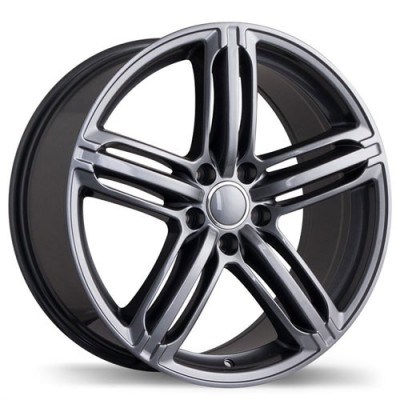 Roue Replika Wheels R133A, gris gunmetal (17X8, 5x112, 66.5, déport 35)