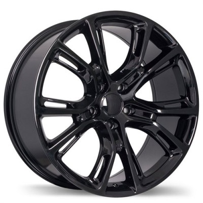 Replika Wheels R148B Gloss Black/Noir lustré , 18X8.0, 5x127, (offset/déport 34 ) 71.5 Jeep