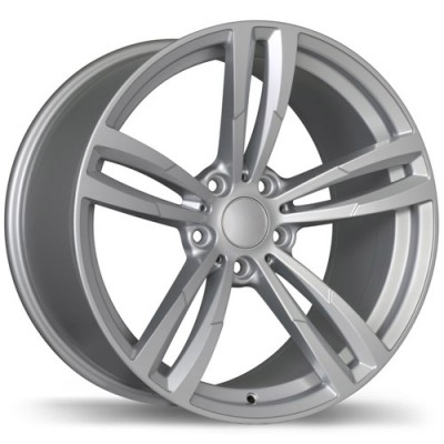 Replika Wheels R163A Gloss Silver/Argent lustré, 19X8.5, 5x120, (offset/déport 20 ) 74.1 BMW