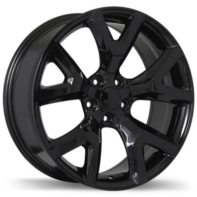 Replika Wheels R165A Gloss Black/Noir lustré , 17X7.5, 5x110, (offset/déport 31 ) 65.1 Jeep