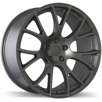 Replika Wheels R179A Matte Gunmetal/Gunmétal mat, 20X9.5, 5x115, (offset/déport 18 ) 71.5 Dodge