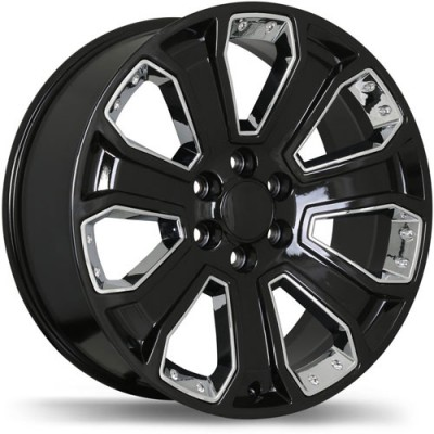 roue Replika Wheels R180, noir machine (22X9, 6x139.7, 78.1, déport 24)