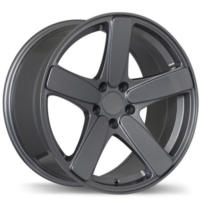 roue Replika Wheels R182, gris gunmetal (18X8, 5x112, 66.5, déport 21)