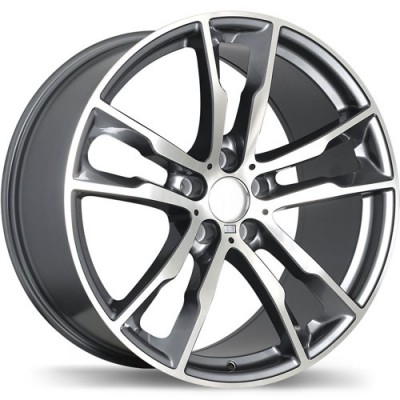 roue Replika R184, gris gunmetal machine (20X10, 5x120, 74.1, déport 40)
