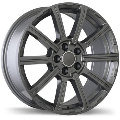 Replika Wheels R193 Gloss Gunmetal/Gunmétal lustré, 18X8.0, 5x112, (offset/déport 30 ) 66.5 Audi