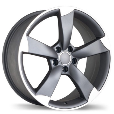 roue Replika R134A, gris gunmetal machine (18X8.5, 5x112, 66.5, déport 35)