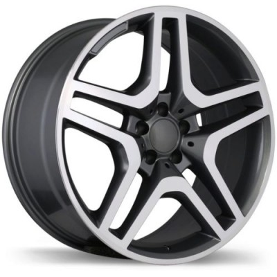 Roue Replika R173, gris gunmetal machine (20X9.5, 5x112, 66.5, déport 35)