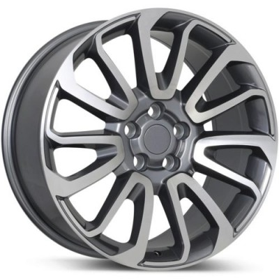 roue Replika R190, gris gunmetal machine (20X9.5, 5x120, 72.6, déport 45)