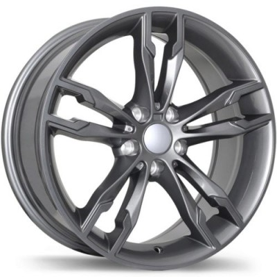 Roue Replika Wheels R198, gris gunmetal (19X9.5, 5x112, 66.6, déport 35)