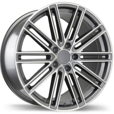 Roue Replika Wheels R209, gris gunmetal machine (21X11.5, 5x130, 71.6, déport 55)