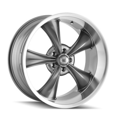 Roue Ridler 695, gris machine (17X7, 5x120.65, 83.82, déport 0)
